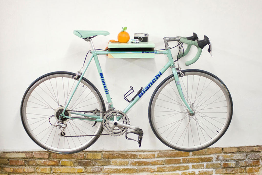 Space-saving-bike-shelf-rack
